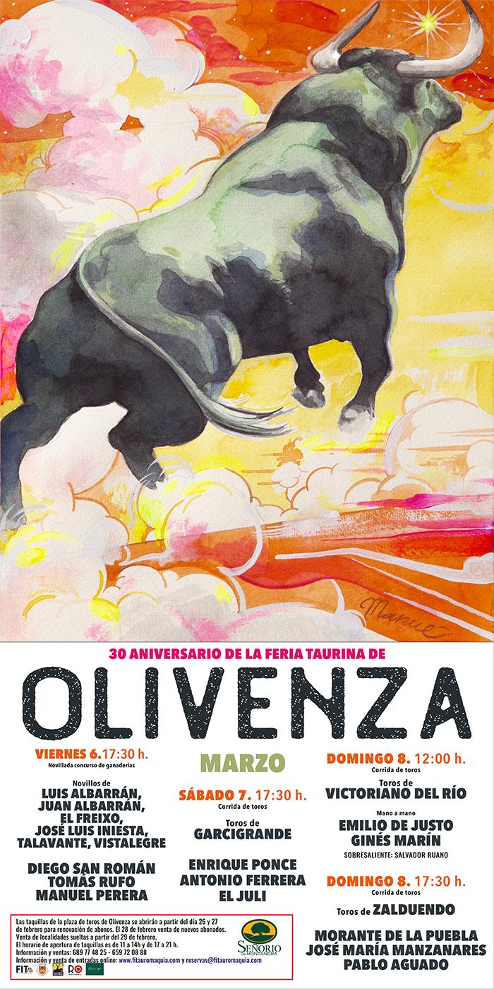 Feria Taurina Olivenza Emilio de Justo, Ginés Marín, Morante de la Puebla, José María Manzanares y Pablo Aguado